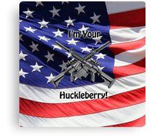 American Flag with Guns Canvas Print