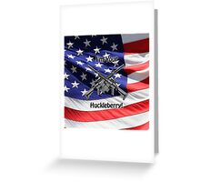American Flag with Guns Greeting Card