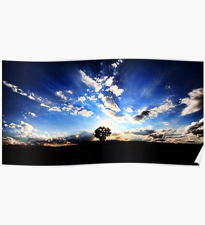Barton Highway Sunset Poster