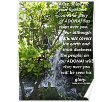 Isaiah 60 v 1-2 in a Waterfall Poster