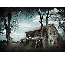 Reclamation - Discarded Farm House in Rural Missouri Photographic Print