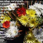Psalms 46 in Flowers by Dawnsuzanne