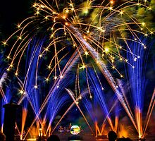 Big Blue Illuminations Fireworks at Epcot by jjacobs2286