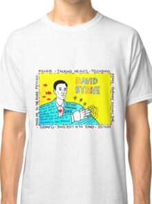 David Byrne Pop Folk Art Classic T-Shirt
