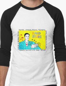 David Byrne Pop Folk Art Men's Baseball ¾ T-Shirt