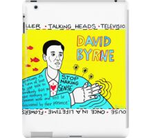 David Byrne Pop Folk Art iPad Case/Skin
