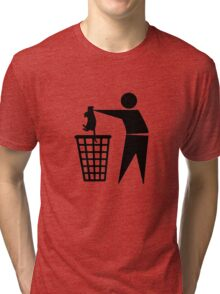 Bin cat Tri-blend T-Shirt