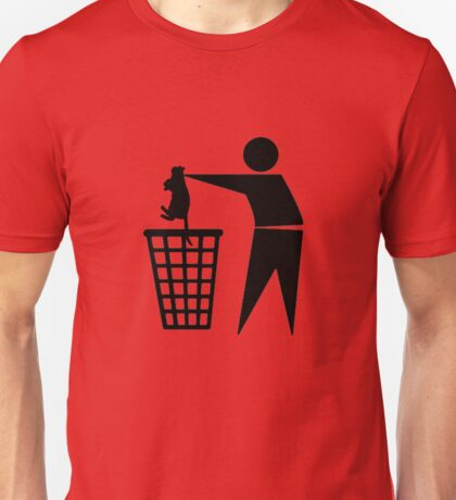 Bin cat Unisex T-Shirt