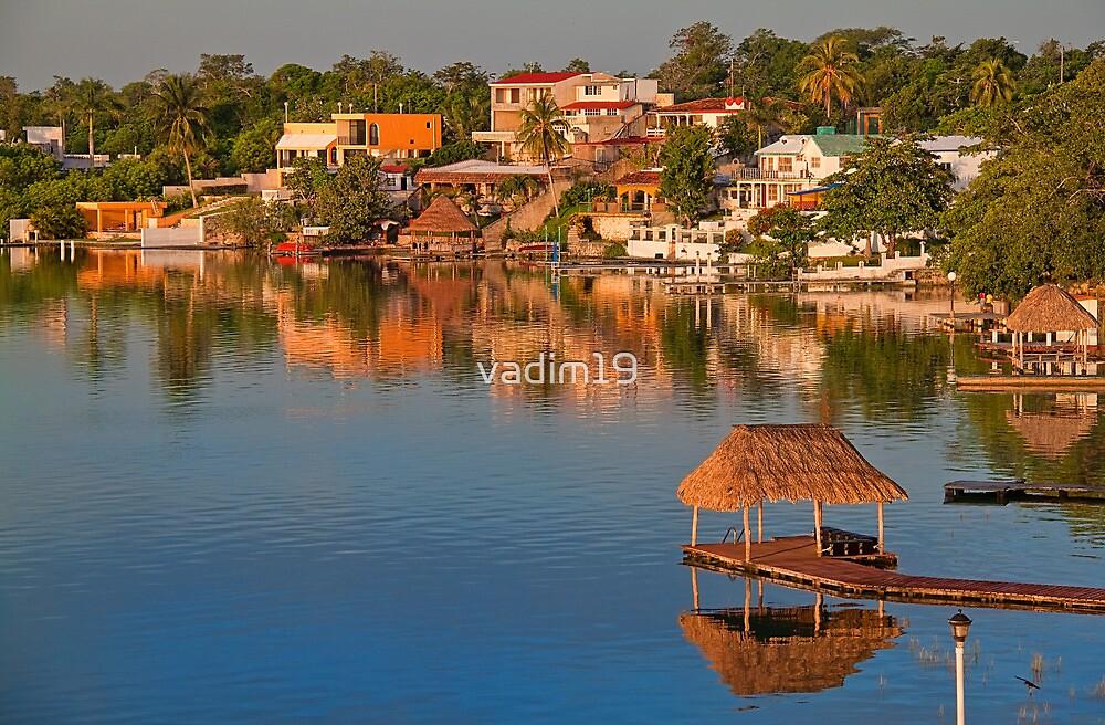 Morning. Lake Bacalar. Mexico by vadim19