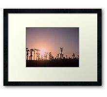The Evening Grows Old  Framed Print