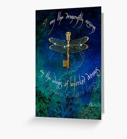 Dragonfly Rising Greeting Card