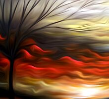 Abstract Trees Oil Painting #8 by Fred Seghetti