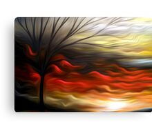 Abstract Trees Oil Painting #8 Canvas Print