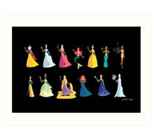 Origami - The Princesses Art Print