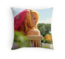 apricot sundae Throw Pillow