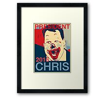 Chris Clown for President 2016 Framed Print