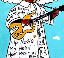Sister Rosetta Tharpe Gospel Folk Art by krusefolkart