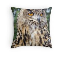 European Eagle Owl Throw Pillow