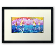 Cotton Candy Cove Framed Print