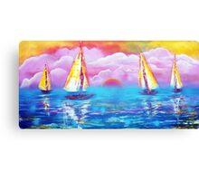 Cotton Candy Cove Canvas Print