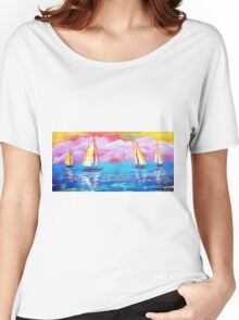 Cotton Candy Cove Women's Relaxed Fit T-Shirt