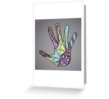 Abstract Doodle Hand Greeting Card