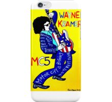 Wayne Kramer MC5 Pop Folk Art iPhone Case/Skin
