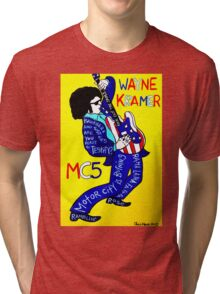 Wayne Kramer MC5 Pop Folk Art Tri-blend T-Shirt