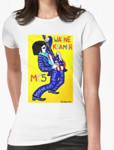 Wayne Kramer MC5 Pop Folk Art Womens Fitted T-Shirt