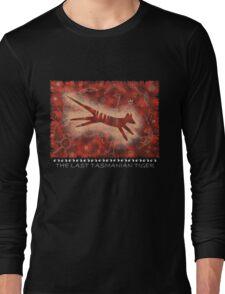Tasmanian Tiger Cave Art Shirt Long Sleeve T-Shirt