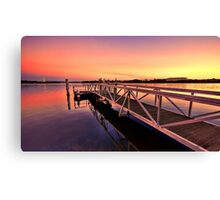 The Sunset Jetty Canvas Print