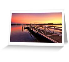 The Sunset Jetty Greeting Card