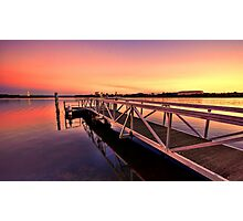 The Sunset Jetty Photographic Print
