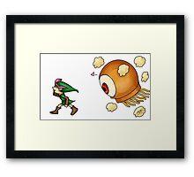 Chasing Link Framed Print