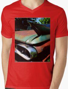 Cadillac Fin Mens V-Neck T-Shirt