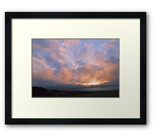 Red Sky at Night....... Framed Print