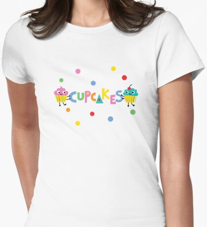 I love cupcakes banner Womens Fitted T-Shirt
