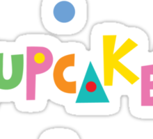 I love cupcakes banner Sticker