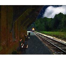 Thomaston Train at Night Photographic Print