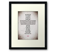 The Lord's Prayer Framed Print