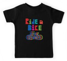 Ride a Bike sketchy - black T  Kids Clothes