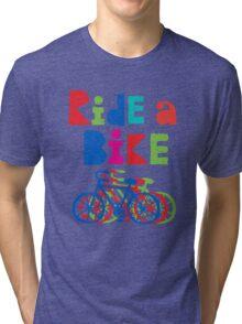 Ride a Bike sketchy - black T  Tri-blend T-Shirt