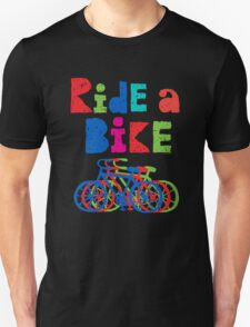 Ride a Bike sketchy - black T  Unisex T-Shirt