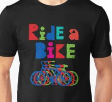 Ride a Bike sketchy - black T  Unisex T-Shirt