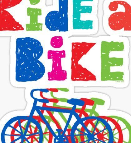 Ride a Bike sketchy - black T  Sticker