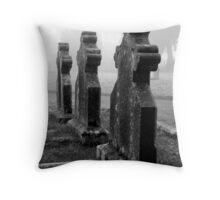 The Churchyard Guardians Throw Pillow