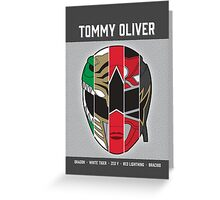 Tommy Oliver - 5x Ranger Greeting Card