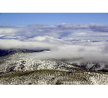 Above the snowline Photographic Print