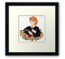 No-lined Ron Weasley Framed Print