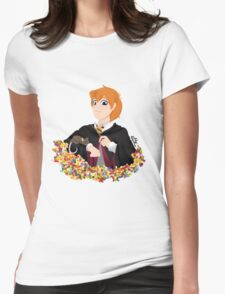 No-lined Ron Weasley Womens Fitted T-Shirt